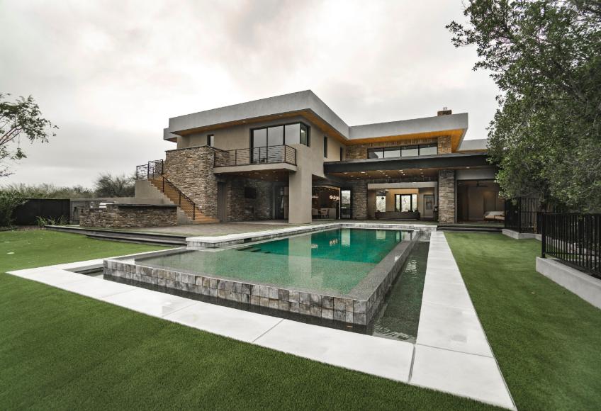 modern style mansion